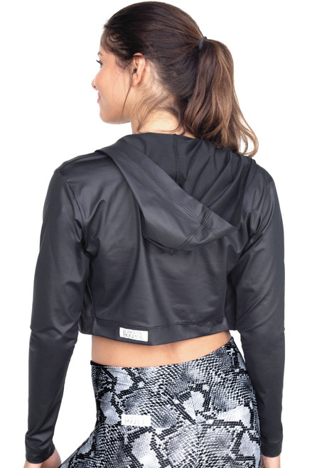 Cropped Hooded Jacket - Wet