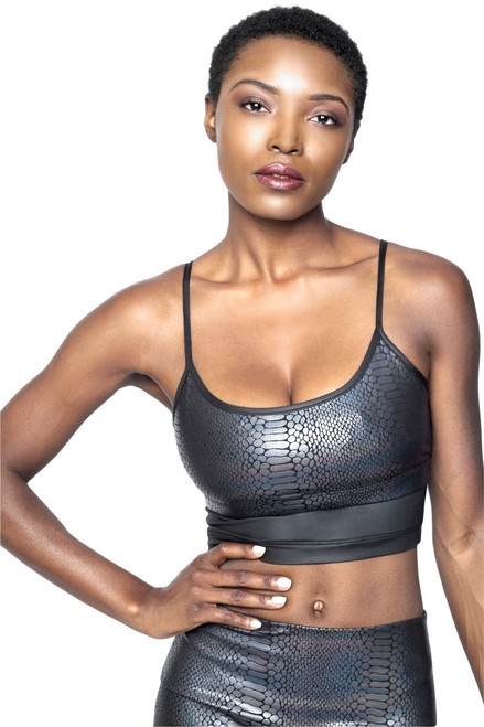 Pacific Crop Top - Glossy Python