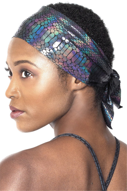 Wide Tie Back Headband - Glossy Python