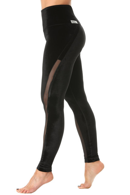 Solstice High Waist Leggings - Stretch Velvet