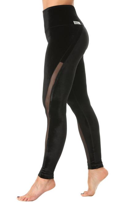 Solstice High Waist Leggings - Stretch Velvet