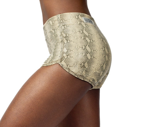 High Waist Retro Shorts - Serpent