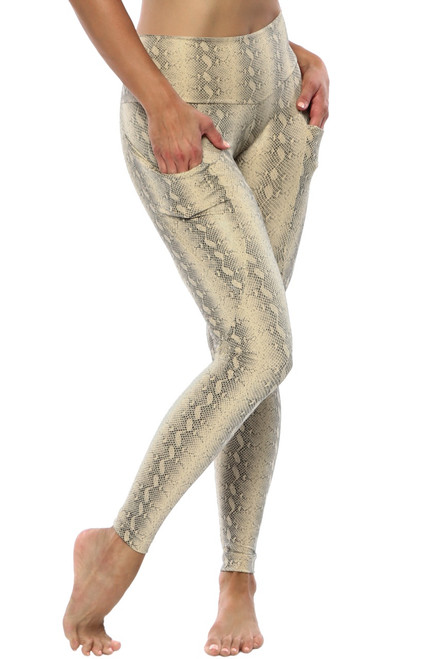 Calypso Pocket High Waist Leggings - Serpent