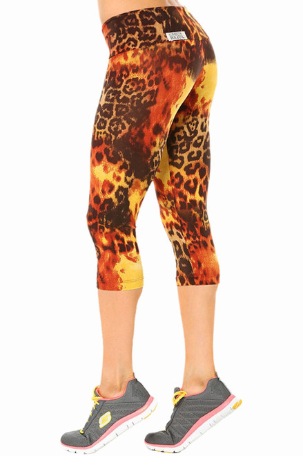 High Waist 3/4 Leggings - Print (Not Brushed)