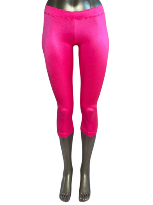 Yoga 3/4 Leggings - Double Supplex - Hot Pink - Final Sale - Small - 20  Inseam (1 Available)