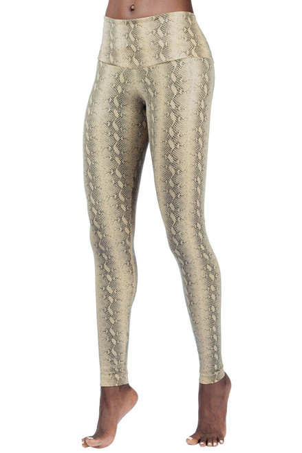 High Waist Leggings - Serpent