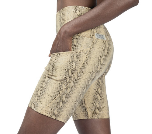Cobra Pocket Bike High Waist Shorts - Serpent