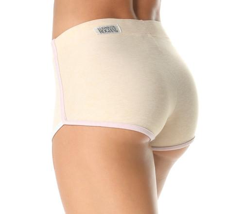 High Waist Retro Shorts - Butter - Tri-Color