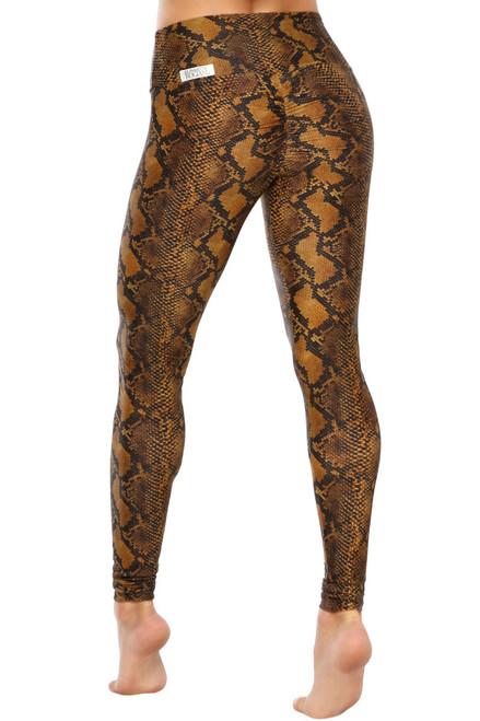 Bambola Scrunch Back High Waist Leggings - Snake