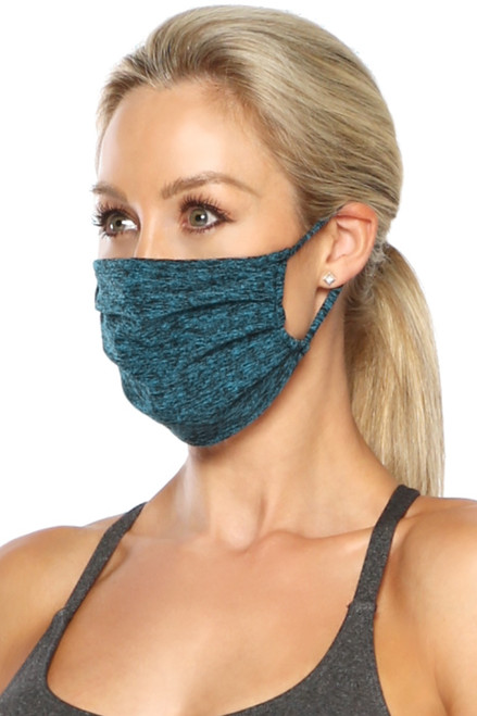 NON-MEDICAL Pleated Face Cover with Ear Loops - Double Layer Butter Soft - solid color