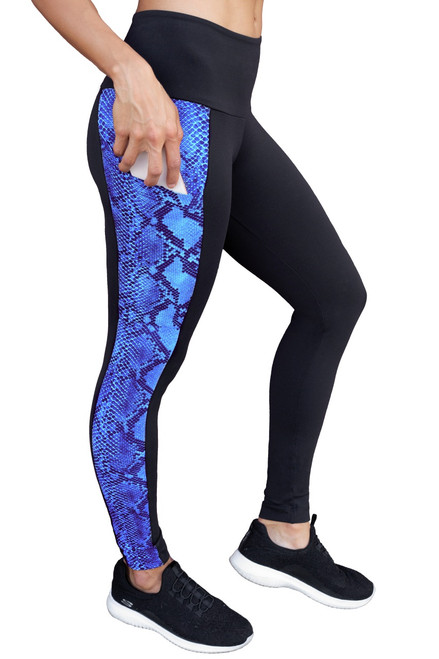 Kiko High Waist Double Pocket Leggings - Snake w/ Supplex Accent