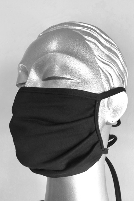 NON-MEDICAL Pleated Face Cover With Adjustable Ties- Butter Soft - solid color