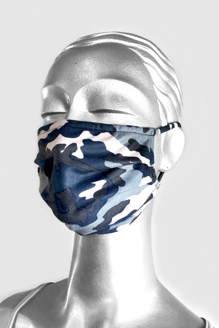 NON-MEDICAL Pleated Face Cover with Ear Loops - Brushed Print