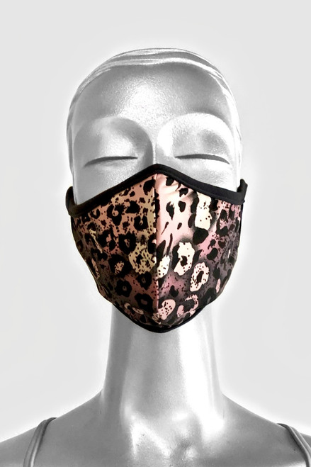 NON-MEDICAL Shaped Face Cover With Ear Loops - LIMITED EDITION - Cheetah - Pink
