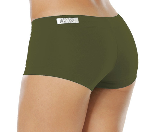 "Lowrise Mini Shorts - Supplex - Army - Final Sale - Medium - 2.75"" Inseam"