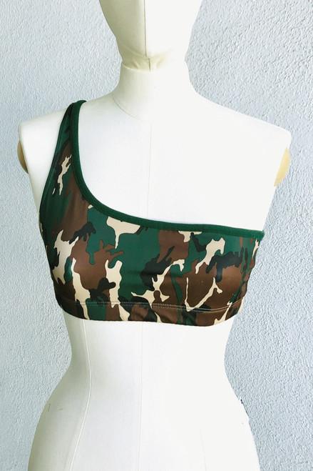 TIger Bra - Dual - Final Sale - Camo Print & Alpine Stretch Cotton- Small (1 Available)