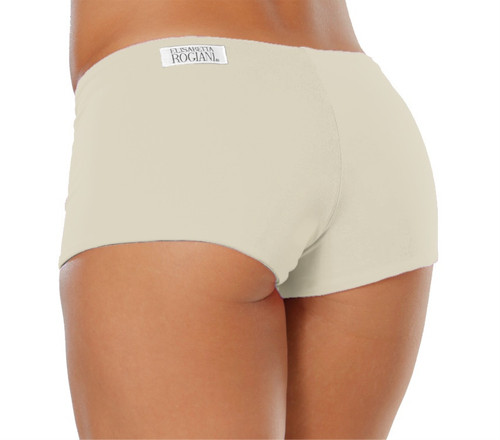 """Double Layer Boy Shorts - Ivory - Final Sale - Small - 2"""" Inseam"""