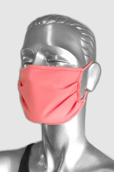 NON-MEDICAL Pleated Face Cover With Ear Loops - Supplex - Solid Color