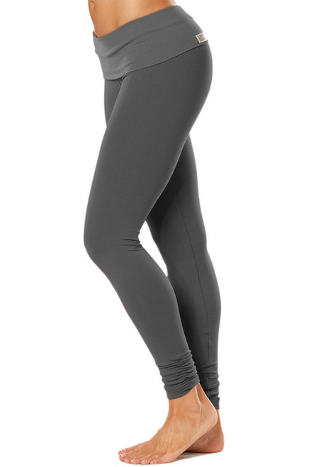 Rolldown Ankle Gather Leggings - Solid Supplex
