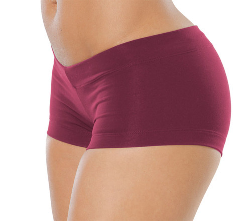 "Buti Lowrise Mini Shorts - Supplex - Burgundy - Final Sale - X-Small - 1.5"" Inseam"