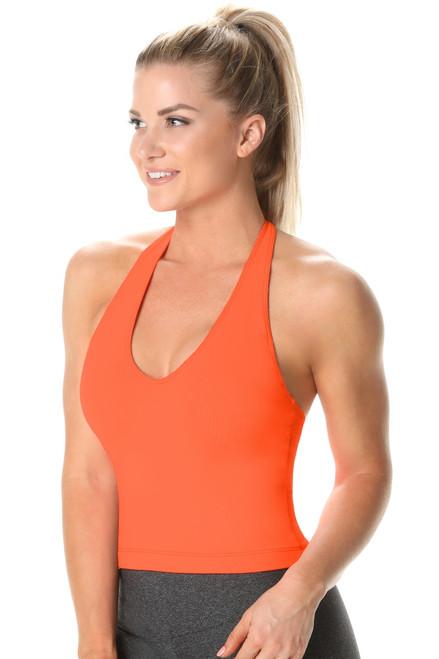 Halter Top - Supplex - Orange - Final Sale - Medium