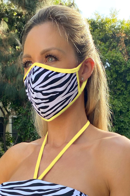 NON-MEDICAL Shaped Face Cover With Ear Loops - Zebra