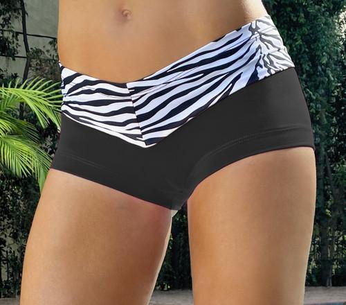 Kiss Shorts -Supplex Accent on Zebra