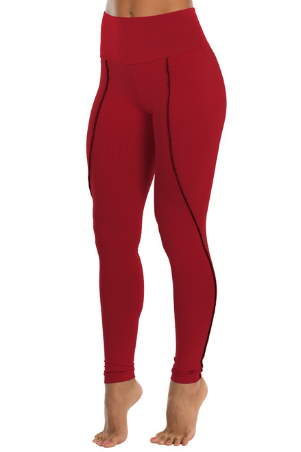 Dune Curved High Waist Leggings - Solid Supplex
