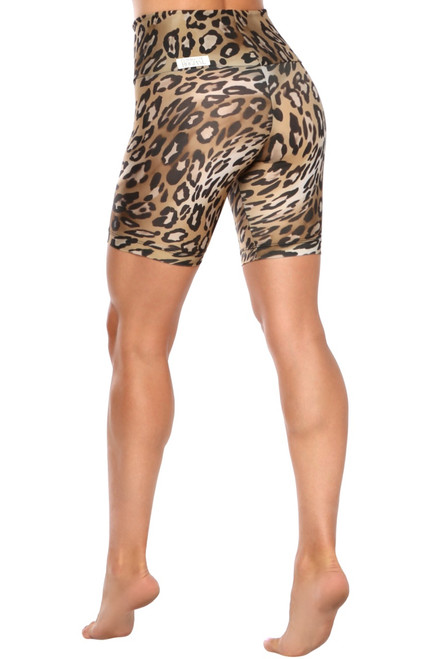High Waist Cobra Bike Shorts - Print