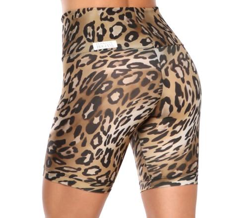 Cobra Bike High Waist Shorts -Leopard