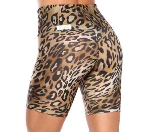 High Waist Cobra Bike Shorts -Print