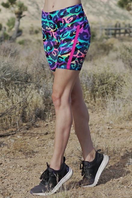 High Waist Retro Cobra Bike Shorts - Rebel