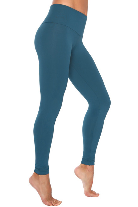 High Waist Leggings - Limited Edition Peacock