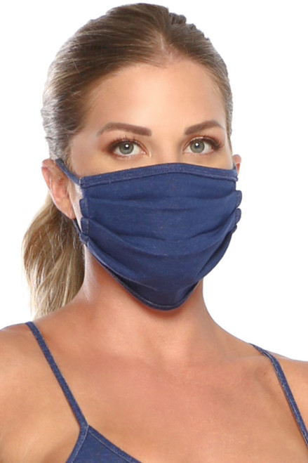 NON-MEDICAL Pleated Face Cover With Ear Loops - Stretch Cotton