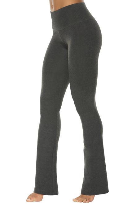 High Waist Bootleg Pants - Stretch Cotton