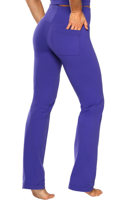 Gwenyth Straight Leg Pants - Solid Supplex