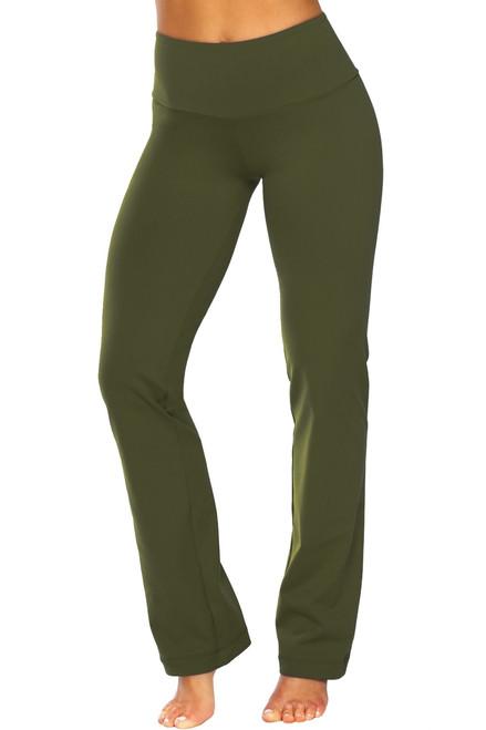 Gwenyth Straight Leg Pants - Solid Supplex