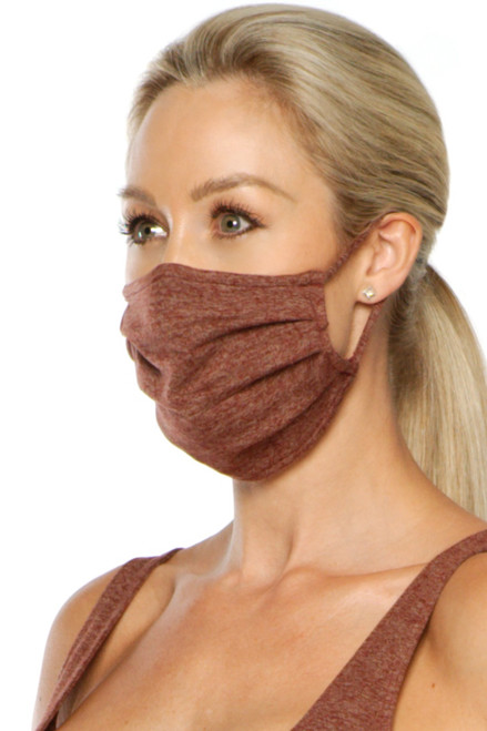 NON-MEDICAL Pleated Face Cover with Ear Loops - Double Weight Butter