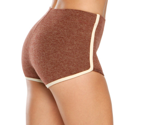 High Waist Retro Shorts- Supplex Accent on Double Weight Butter