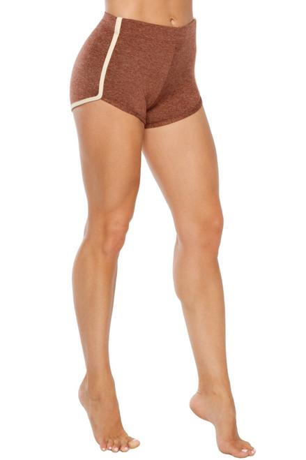 High Waist Retro Shorts - Supplex Accent on Double Weight Butter
