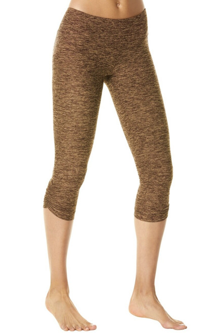 Sport Band Side Gather 3/4 Leggings - Butter Khaki- Final Sale - Small (1 Available)