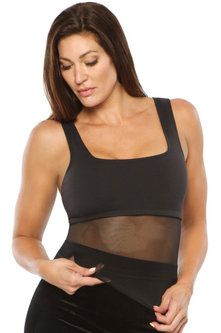 Kelly Top - Mesh Accent on Supplex