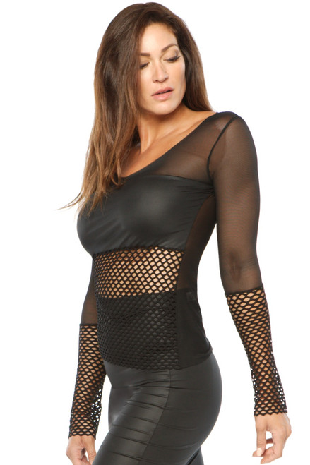 Glam Top - Mesh / Wet / Open Mesh