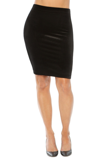 Pencil Skirt - Velvet Stretch