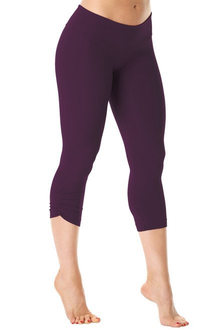 Sport Band Side Gather 3/4 Leggings - Supplex - Agent - Final Sale - Small