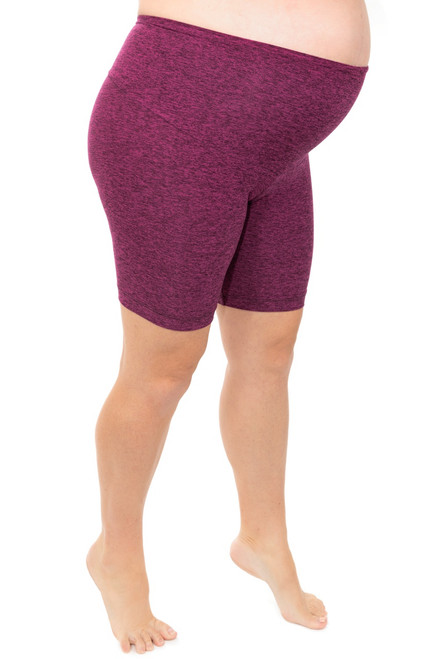 Whitney J Athletics - High Waist Maternity Shorts- Butter