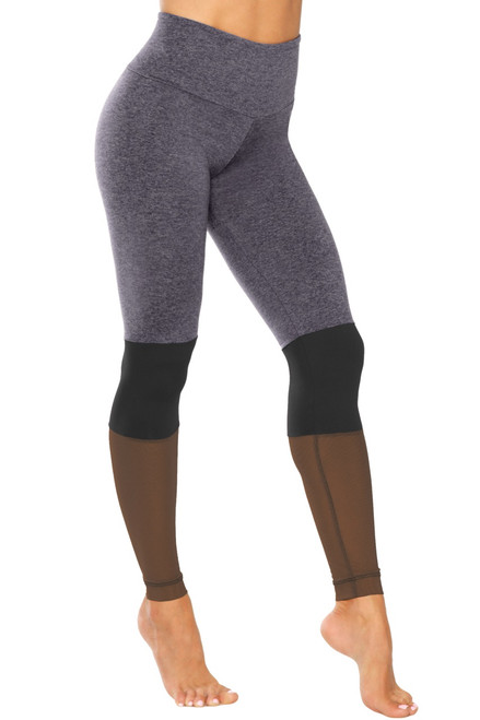 High Waist Aria Leggings - Double Weight Butter / Supplex / Mesh