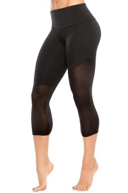 Joan 3/4 Leggings - Supplex / Athletic Mesh