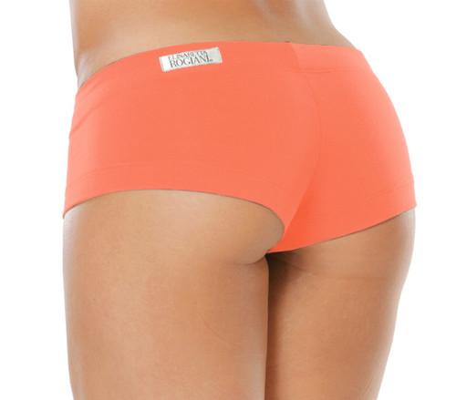 "Lowrise Mini Shorts - Supplex - Tangerine - Final Sale  1.5"" Inseam"