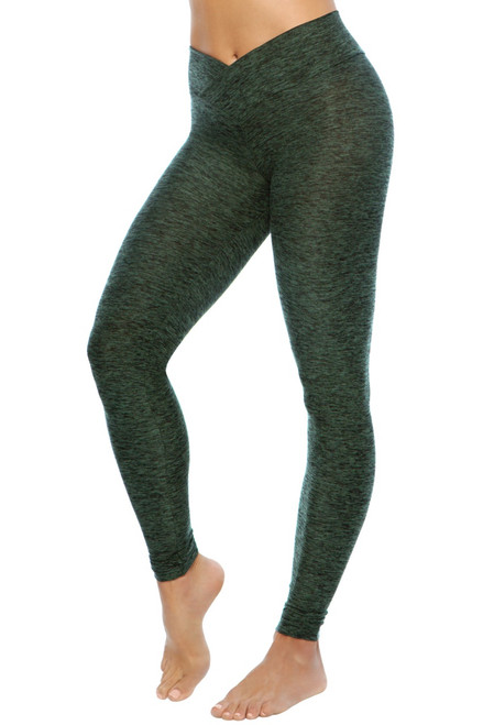 High Rise V-Wrap Leggings - Butter